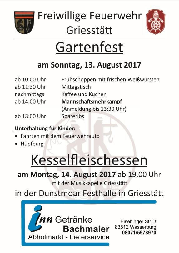 Gartenfest der FF Griesstätt